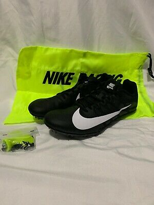 fa54a350 Nike Zoom Rival S 9 Track & Field Shoes Spikes Black White 907564-001 Mens