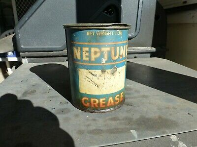 Neptune Oil Company Grease Oil Tin One Pound Size