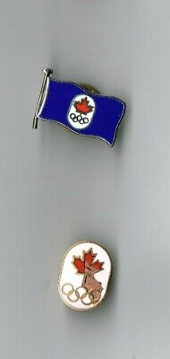 1980 &1972 olympic pins - CANADA  -x 2 pins complete