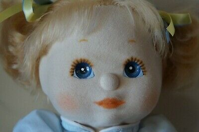 Mattel My Child Doll - Blonde Piggies - Blue Eyes - Dressed