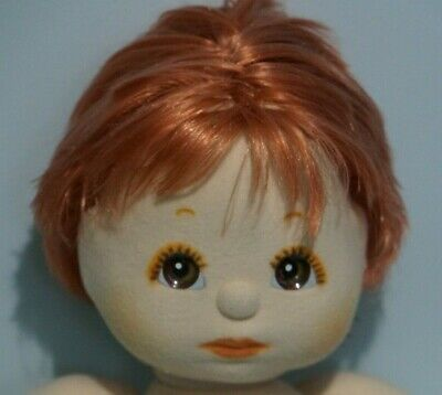 Mattel My Child Doll  -Red Straight Hair Boy - Brown Eyes - Naked