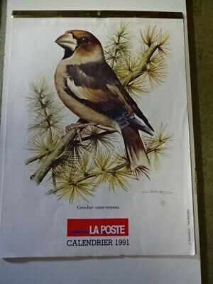 Calendrier.1991.Poste.Animaux
