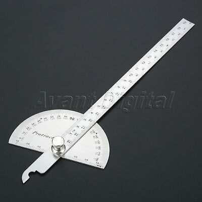 0-180 Degree Stainless Steel 200mm Angle Ruler Finder Carpenter Woodworking Tool