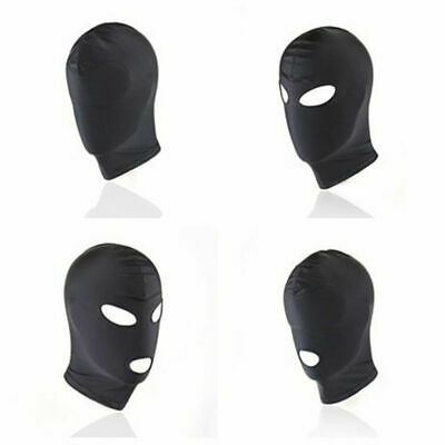 VARIOUS Unisex Stretch Lycra Breathable Full Head Mask Sensory Depravation Hood