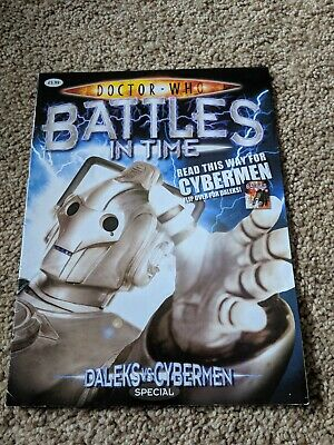 Dr Doctor Who Battles in Time Magazine Daleks Vs Cybermen special doctor who