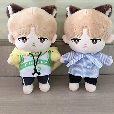 20cm/8'' KPOP BTS JIMIN Plush MeowCHIM Doll Toy with 2sets Clothes Limited New