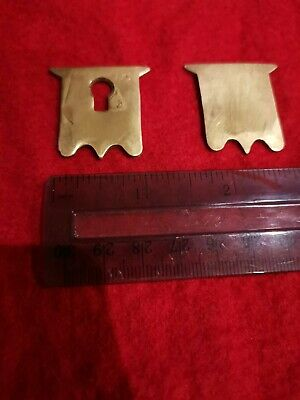 Brass escutcheon and cartouche for vintage/antique writing slope
