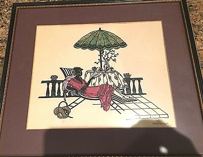 Art Deco Scherenschnitte by Eva Schonberg 1920s Original Signed German Paper Art