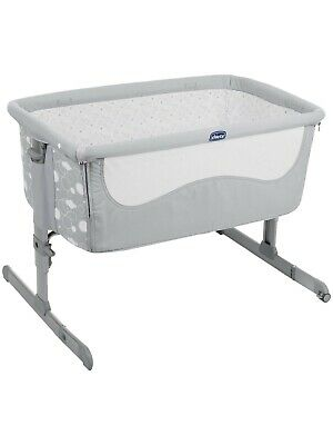 Chicco Next to Me Elegance Crib, with carry bag, comfy mattress & fitted sheets