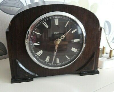 Smiths Sectric Electric Wooden Vintage Mantle Clock