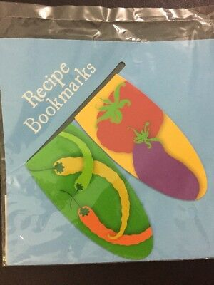 Recipe Bookmarks Printed Double Sided Thin Metal 8cm X 4cm