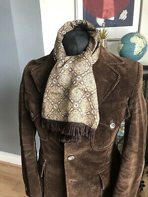 Vintage TOOTAL Reversible Scarf Cravat Dapper Mod Indie Scooter Goodwood Ascot