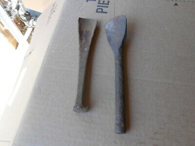 2 Antique Hand Forged Spoons Black Smith's