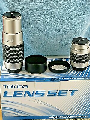 Tokina 28-80mm & 100-300mm Auto-Focus lenses for Sony A, Minolta, new boxed set