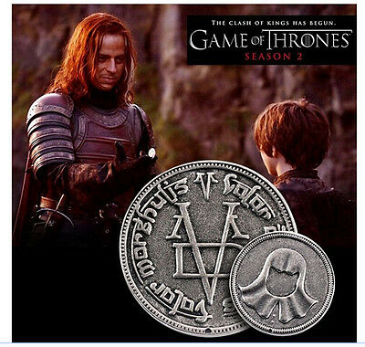 Game Of Thrones Faceless Man Iron Coin Props Costume *New* Sale!