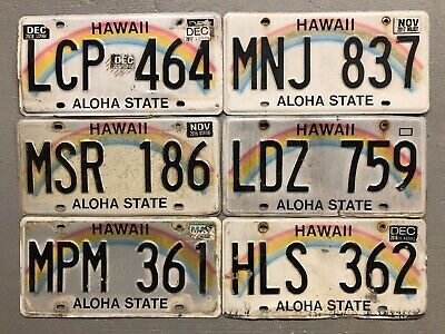 One Hawaii License Plate Aloha Craft Grade Random Letters/Numbers Free Shipping!