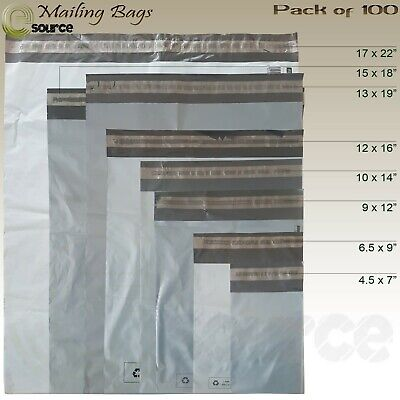 Mailing Bags Grey Strong Polythene Postal mail bags Self Seal adhesive All Sizes
