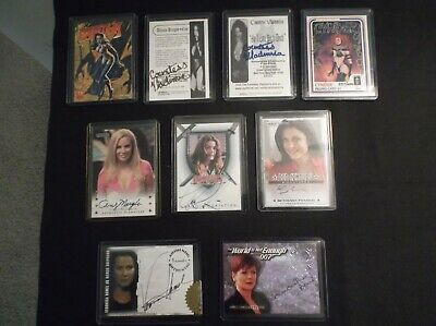 Lot of 9 Assorted Female Signed Autographed Non Sports Trading Cards