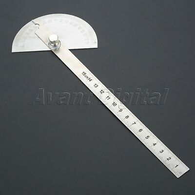 0-180 Degree Stainless Steel 90mm Angle Ruler Finder Carpenter Woodworking Tool