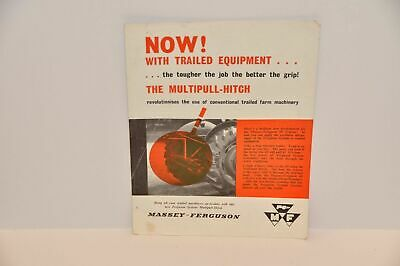Ferguson Multipull Hitch Tractor Weight Transfer Device Brochure  Sales Leaflet