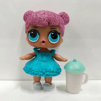 lol doll Big Sister Serie Glitter Pink Hair Blue Dress Kids Birthday Gift Cute