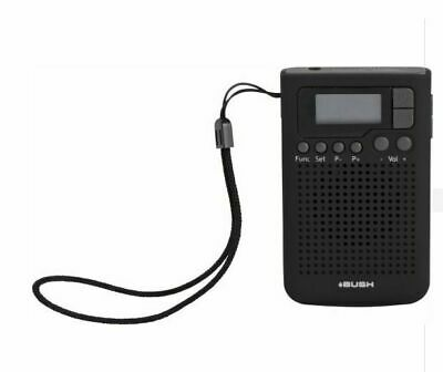 Bush R-9383 Personal Pocket Mini Digital Handheld FM/AM Radio Stereo - G100