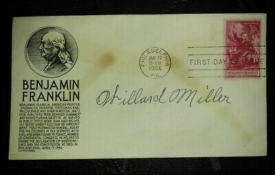 Sea. WILLARD MILLER, Medal of Honor Spanish-American War MOH CMH RARE Signature.