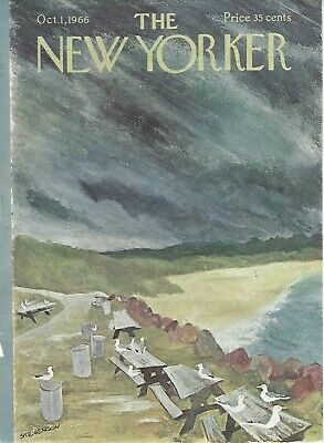 COVER ONLY ~The New Yorker magazine  October 1 1966 ~ STEVENSON ~ Beach Seagull