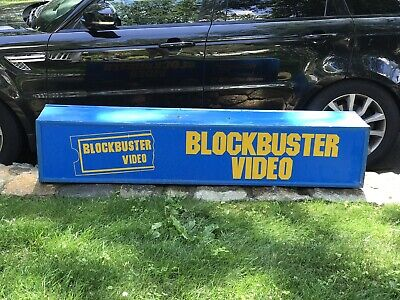 Blockbuster Video sign! RARE and Authentic! 16x9