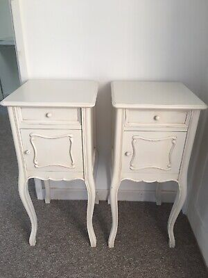 Pair Of Louis XV French Style Ivory Bedside Cabinets