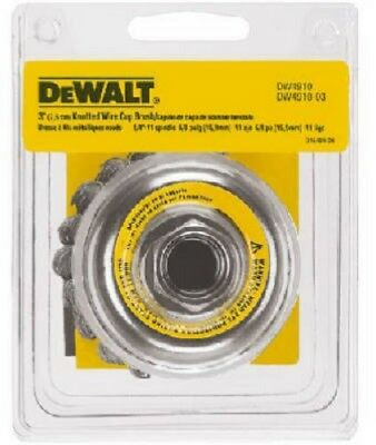 "Dewalt, DW4910, 3"" x 5/8""-11 Knotted Cup Brush"