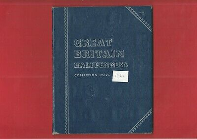 GREAT BRITAIN HALFPENNY COINS in WHITMAN FOLDER - 50 COINS (JZ04)