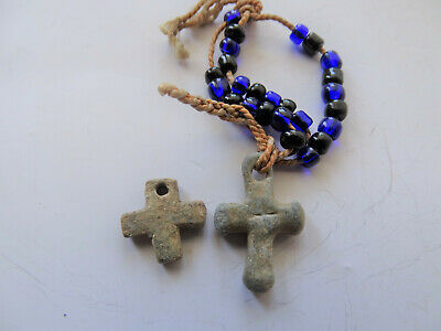 Ancient Pendant Cross Byzantine, Viking c 11-13 AD. 2CR.