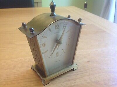 "A Genuine Rare Vintage ""ESTYMA"" ( Unijute Ltd. ) Solid Brass Clock"