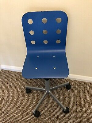 Enjoyable Ikea Childrens Computer Adjustable Desk Chair Blue Squirreltailoven Fun Painted Chair Ideas Images Squirreltailovenorg