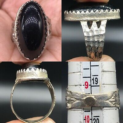 Silver Medieval Wonderful Old Agate stone Beautiful Ring