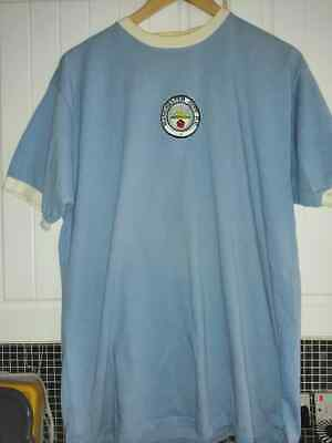 sale retailer 8cf17 7bc4c MANCHESTER CITY FOOTBALL Shirt Retro Jersey Xl Mens Home Top Colin Bell
