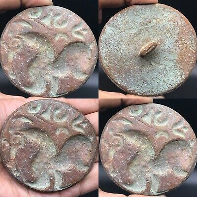 Lovely Unique Roman Ancient Greek Backtrian Bronze Stamp