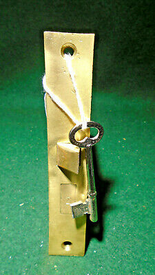 "VINTAGE SARGENT MORTISE LOCK with KEY - PATENT 1886 FACEPLATE 5 1/2"" (5234)"