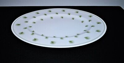 "Susie Cooper England Bone China ""Whispering Grass"" Green Oval Serving Platter"