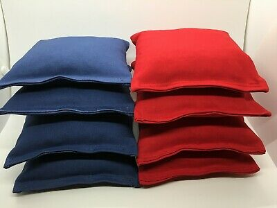 Set of 8 Cornhole Bags Regulation Size - 22 Colors -High Quality - Corn Filled