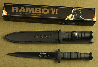 Rambo Vi 5.5Mm Boot Dagger Double Blade Camping Bowie Survival Hunting Knife