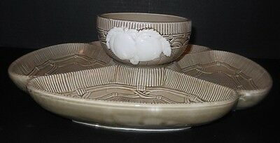 Georges Briard 3 Section Ceramic Relish Tray Divided Serving Dish