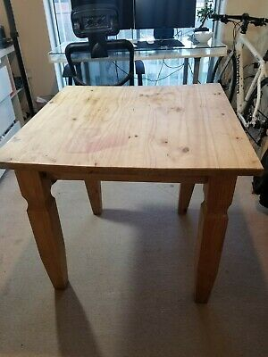 SOLID PINE KITCHEN Table & Chairs - £16.50 | PicClick UK