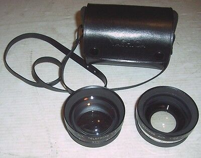 SUNTAR YASHICA 55mm AuxillaryTelephoto (1:4) & Wide Angle (1:4) Y407 Lens Set