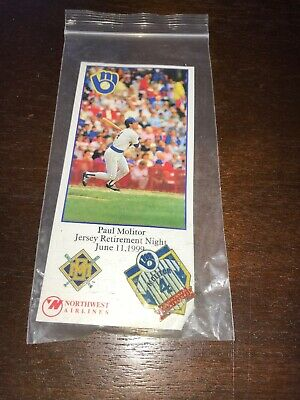 Lot of 2 Milwaukee Brewers Robin Yount  Paul Molitor pin NEW