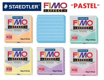 STAEDTLER FIMO Effect Modelling Clay 57g x 6 pcs Assorted Pastel Colours