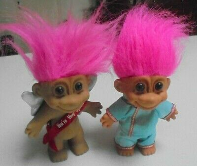 Troll Doll -You're Very Special -Russ Troll Doll pink hair red sash silver wings