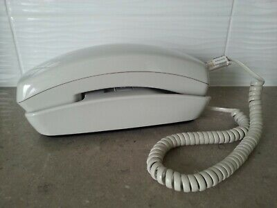 Unisonic TP-6432 Trimline / Slimline Push Button Desk or Wall Telephone - Ivory