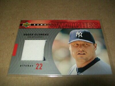 2002 Upper Deck Roger Clemens Game Swatches #RJ-RC